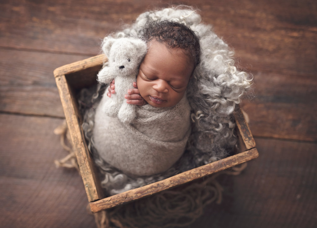 newborn, newborn boy, newborn with teddy bear